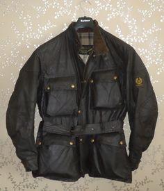 f2df7b38fb8 Belstaff Trialmaster Sammy Miller Wax Motorcycle Jacket 40-42 Motorbike Coat  VTG Belstaff Jackets,