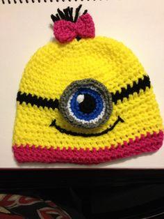 Girl minion inspired hat