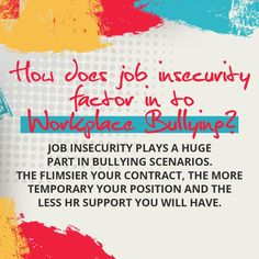 It can be emotionally devastating to go home at night wondering if you'll still have a job in the morning—solely because you've been targeted by a workplace bully. Read our blog to know more! #bullyology #thebullyologist #jessicahickman #endbullyingnow #stopbullying #becomeupstanders Stop Bullying, Anti Bullying, Workplace Bullying, Job Security, Insecure, Healthy Relationships, Positivity, Reading, Reading Books