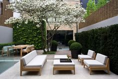 Teak modern outdoor furniture