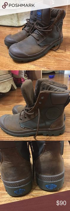 Palladium Boots Soft insole, great for hiking, worn no more than 5 times, comes with leather and suede cleaner, great for the snow, very very comfortable! Palladium Shoes Winter & Rain Boots