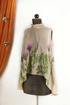 Floral-Schmetterlings-Motiv Pflegeleicht Distel Tischdecke