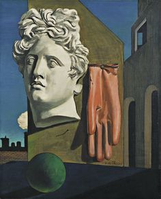 [P.252] Giorgio de Chirico (Greek 1888-1978). The Song of Love (1914). Oil on Canvas; 73 x 59.1 cm. MOMA Museum: NY. Acc.#: 950.1979. Found by: Jeanette Reyes