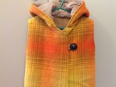 vest from upcycled wool blanket