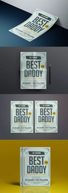 Best Daddy Flyer Template AI, PSD #unlimiteddownloads