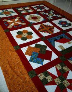 Curso de iniciación al Patchwork. Curso online gratuito. Aprende todas las técnicas del Patchwork paso a paso. Inscríbete y recibe material exclusivo. Tie Quilt, Patch Quilt, Quilt Blocks, Tutorial Patchwork, Quilting Tutorials, Quilting Designs, Triangles, Yarn Crafts, Diy And Crafts