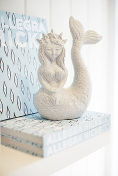 Chic Coastal Living . Mermaid book ends.