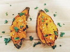 Vegan Twice Baked Sweet Potato   Plant Over Processed