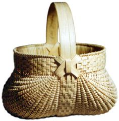 """Baskets by Gertie Youngblood  9"""" x 9.5"""" & 6.5"""" x 7""""  Gertie's work is the finest example of Appalachian basketry I have seen. A set of nine square ribbed baskets can be seen in the book """"Appalachian White Oak Basketmaking, Handing Down the Basket"""" by Rachel Nash Law and Cynthia W. Taylor.  http://www.jaskets.com/collection.html#"""