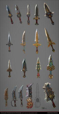 allods online daggers concepts