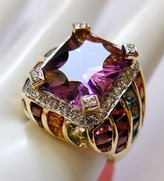 "Bellarri ""Lolita"" 18K Multi-Gem Ring"