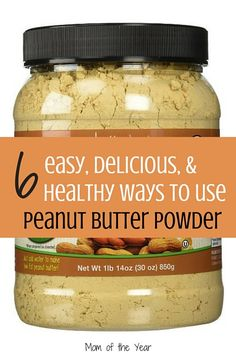Intrigued by this peanut butter powder craze, but not sure exactly how to best use it in your kitchen? These delicious, easy, kid-friendly ideas will be a hit with the whole family! Time to soak up all that protein-packed goodness without the extra calories!