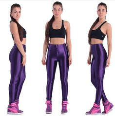 Windreama High Waist Women Leggings Elastic Slim Legging Fluorescent Candy Color Pants European Style Leggins Plus Size S-XXL Workout Wear, Workout Pants, Amy, Disco Pants, Sport, Pants For Women, Tights, Brand New, Skinny
