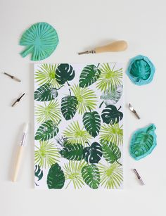 Save the Date: Stempel-Workshop im Juni - we love handmade Thank You Wallpaper, Cactus Decor, Diy Supplies, Fabric Painting, Block Painting, Textiles, Printing On Fabric, Hand Carved, Diy And Crafts