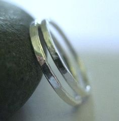 Silver Stack Rings Skinny Bands Pinky Stacking by ZorroPlateado, $14.00
