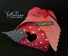 Stampin' Up! Curvy Keepsakes Valentine Birdhouse Box by Melissa Davies @ rubberfunatics by lorie
