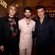 cody fern, darren criss & finn wittrock at fx network's emmys event! (in partnership with vanity fair) American Horror Story Series, American Crime Story, Ahs Actors, Actors & Actresses, Finn Wittrock, Fern Michaels, Cheer Workouts, George Mackay, Ryan Murphy