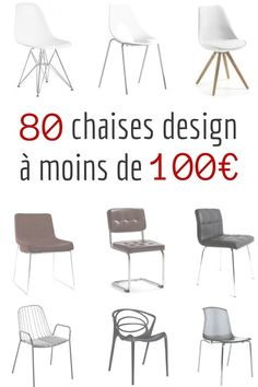 chaise design scandinave pas cher luna http www. Black Bedroom Furniture Sets. Home Design Ideas