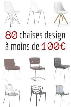 Chaise Design Pas Cher : 80 Chaises Design à Moins de 100€ http://www.homelisty.com/chaise-design-pas-cher/