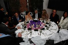 more table talk at Lloyd Kleins Birthday Dinner at Spago Beverly Hills