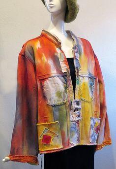 Sylvia's Couture - Denim Redoo Pastel Jacket