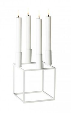 Shop online these modern designer solid white metal Kubus 4 candle holders from Danish and Scandinavian brand By Lassen. The perfect home decor accessory. Design Shop, Futuristisches Design, Interior Design, Home Decor Items, Home Decor Accessories, Seattle Homes, Danish Design, Scandinavian Design, Candlesticks