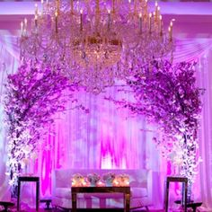 Take a look at this beautiful cherry blossom arch from Priya and Akshay receptio