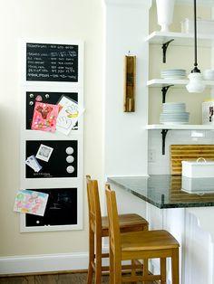 Information Storage - chalk boards, magnet boards