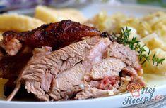 Krůtí pečínka na másle a tymiánu | NejRecept.cz Pork, Beef, Snacks, Dishes, Chicken, Recipes, Kale Stir Fry, Meat, Rezepte