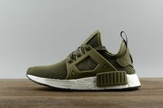 bea80cf42 2018 Real Adidas NMD XR1 PK Olive Green Core Black Noir White blanc S32217  Youth Big Boys Sneakers