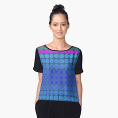 A cluster of multicolored polygons. Women's Chiffon Top Front