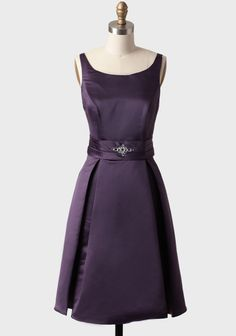 """Really like this a as a simple """"little black dress"""" alternative.  Not crazy about the back, but love the front.  Dinner Party Dress In Purple at #Ruche @Ruche"""