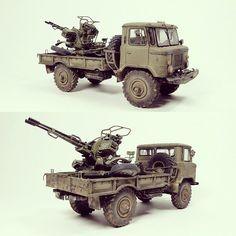 GAZ 66 z działkiem ZU-23-2 1/35 Trumpeter from Grupa B #scalemodel…