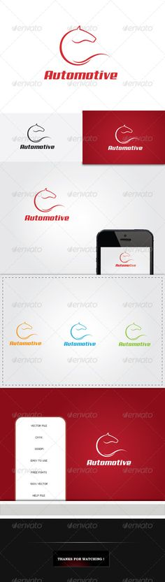 Horse Automotive Logo — Vector EPS #lines #racing • Available here → https://graphicriver.net/item/horse-automotive-logo/5543710?ref=pxcr
