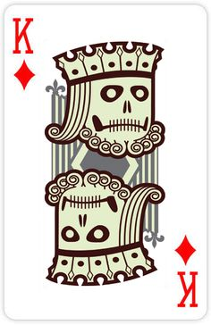 """Sovereign Zombie""  Designed By: Robert Pufahl. From Custom 52 Playing Cards"