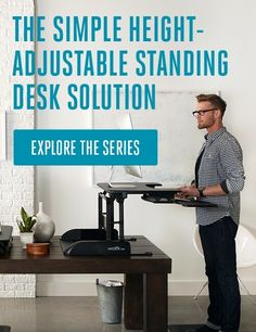 Varidesk: The Height-Adjustable Standing Desk  Such a cool idea for the home office or corporate.