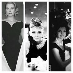 Grace Kelly, Audrey Hepburn, Jacky Kennedy