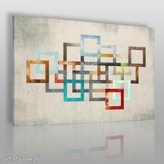 Obraz na płótnie - ŁAŃCUCH KOLORY - 120x80 cm (26501). $52