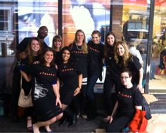 """CROWN STAFFERS HIT THE STRETS To celebrate the paperback publication of """"Gone Girl"""" by Gillian Flynn, Crown employees took to the Port Authority in New York City on April 22 with copies of the paperback to give away to commuters. They wore specially made t-shirts to celebrate the paperback. Two versions of the t-shirts were created: """"Team Amy"""" and """"Team Nick"""" to commemorate the two lead characters in Flynn's bestseller."""