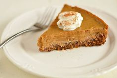 slice of Paleo pumpkin pie