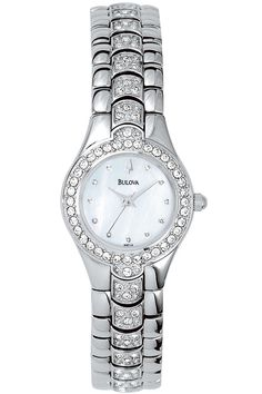 Bulova Ladies Crystal Watch 96T14