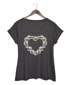 Another great find on #zulily! Heather Charcoal Floral Heart Tee - Plus #zulilyfinds