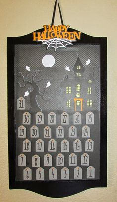 Carol's Creations: 31 Days of Halloween Activities Calendar...each day you turn over the tombstone and there is a different Halloween theme activity.