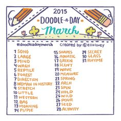 Doodle a Day March | Rhi-Creations
