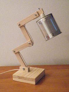 Lampes de chevet, Lampe bois et boîte de conserve • Modèle 3 est une création orginale de Kestufabrik sur DaWanda