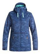 roxy, Valley Hoodie Snow Jacket, BOUNDING_BLUEPRINT (bsq6)
