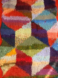 sample knitted in ROWAN YARNS with Mably... awesome weekend.