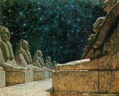 Frantisek (Frank) Kupka (Czech 1871-1957) - Path of Silence I, 1903