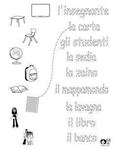 Printables Italian Language Worksheets colors in italian and learning on pinterest school worksheets english