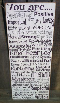 A 50th b day gift...50 words describing the birthday girl! Www.facebook.com/dingbatsanddoodles